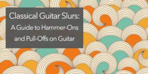 classical guitar slur