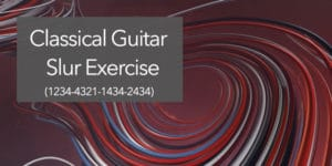 classical guitar slur exercise