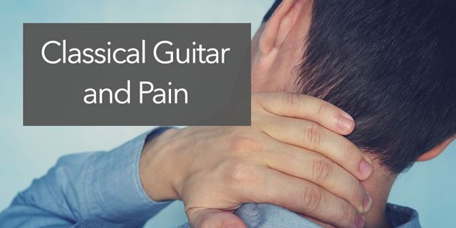 classical guitar pain