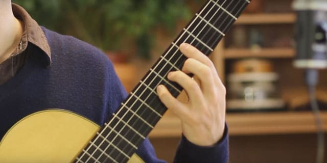 classical guitar stretch strength dexterity exercise