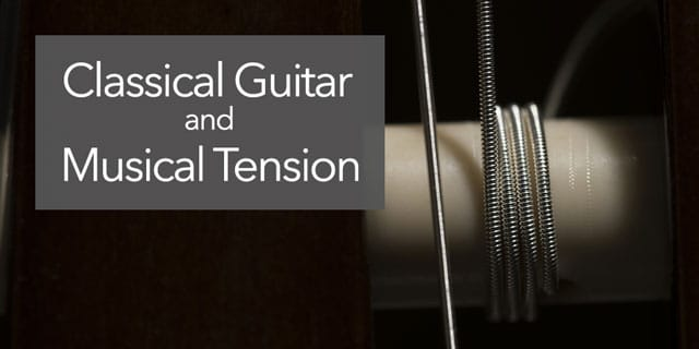 classical guitar tension