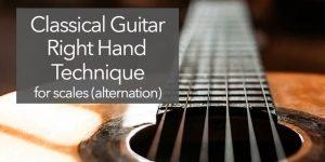 classical guitar right hand technique