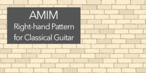 AMIM classical guitar pattern
