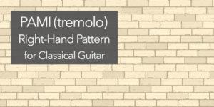 classical guitar tremolo