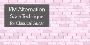 classical guitar alternation