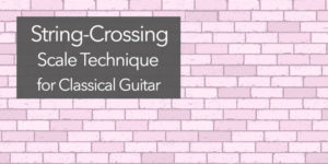 classical guitar crossing scale