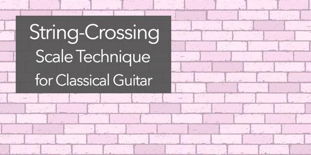 classical guitar crossing scale