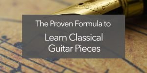 learn classical guitar pieces music