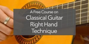 classical guitar right hand technique