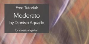classical guitar aguado moderato lesson