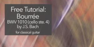 classical guitar bach bourre 1010