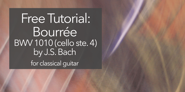 classical guitar bach bourre 1010