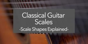 classical guitar scale shapes