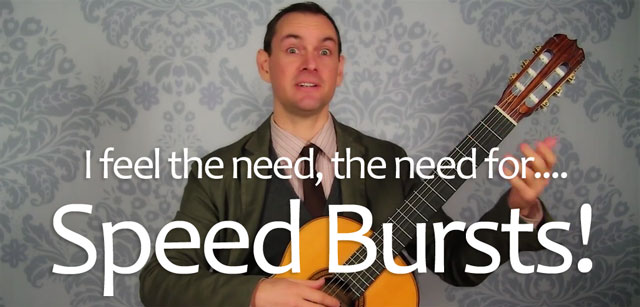 classical guitar speed bursts