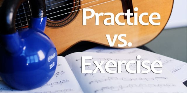guitar practice vs exercise