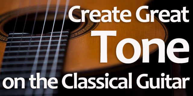 Classical guitar tone production