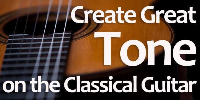 Classical guitar tone production