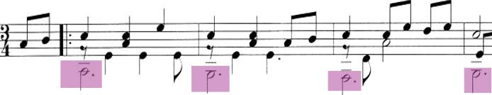 classical guitar bass line