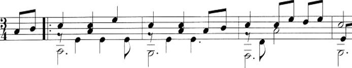 classic guitar music example