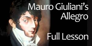 Giuliani Allegro Lesson Classical Guitar