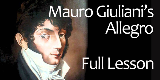 Giuliani Allegro Lesson Classical Guitar