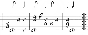 lute tablature