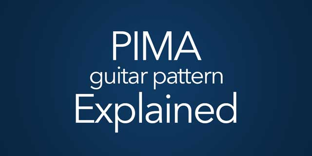 pima guitar fingerpicking arpeggio pattern