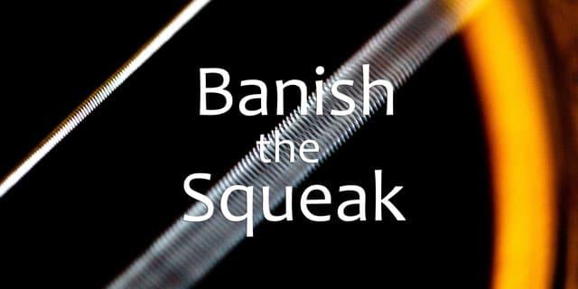stop guitar squeak