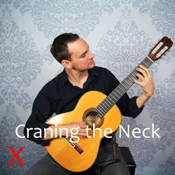 looking at the guitar neck