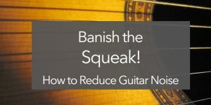 classical guitar squeak string noise