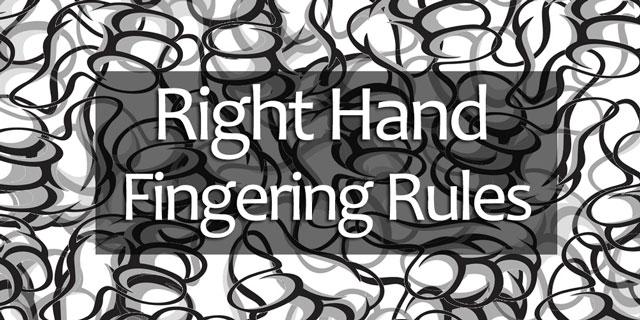 right hand fingerings guitar