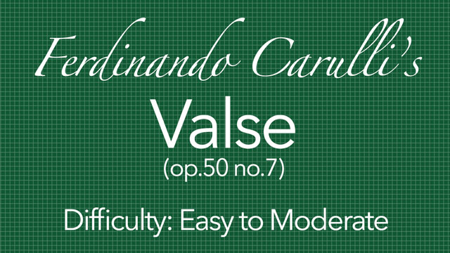 carulli valse for classical guitar