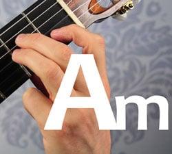 guitar chord A minor Am