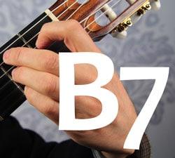 Guitar chord B7