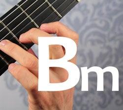guitar chord Bminor Bm