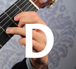 d basic guitar chord