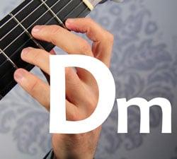 Dminor guitar chord