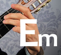 em basic guitar chord