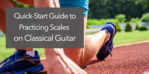 classical guitar start scales