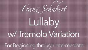 schubert lullaby classical guitar