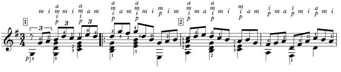 bach jesu classical guitar
