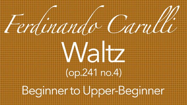carulli waltz guitar