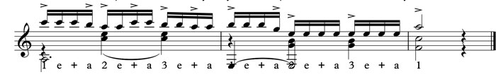 16th note accents