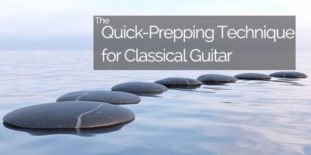quick prepping for classical guitar