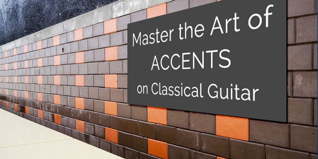 classical guitar accents phrasing