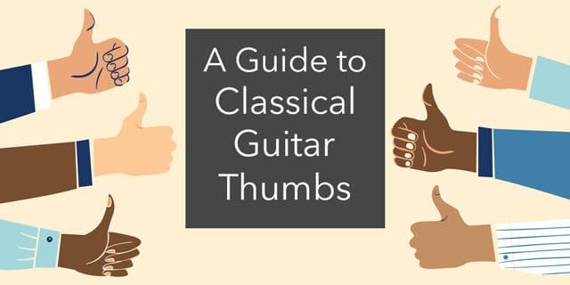 classical guitar thumb technique