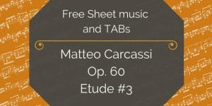 Carcassi etude 3 free pdf