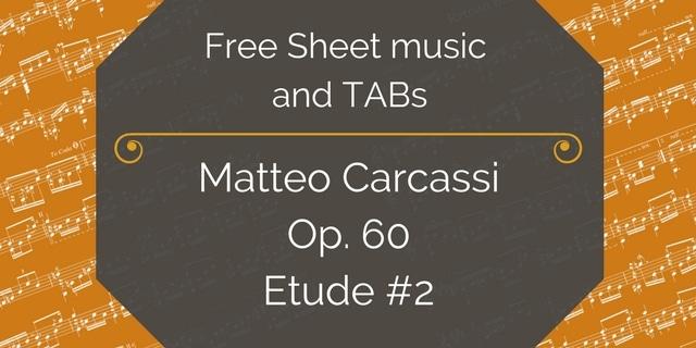 Carcassi etud 2 free pdf