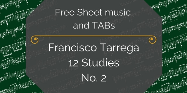 Tarrega study 2 free pdf