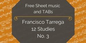 tarrega study 3 free pdf